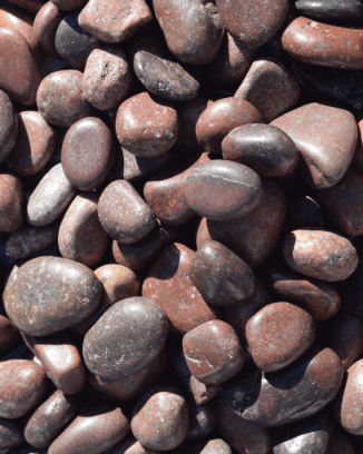 Red Polished Landscaping Pebble - 50 lbs.
